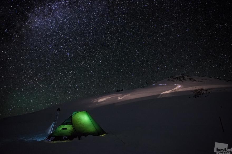 «В ожидании восхождения». Снято ночью за несколько минут до начала восхождения на Эльбрус. Точка съёмки примерно 4500 м. Алексей Заводский, город Терскол, Кабардино-Балкарияa