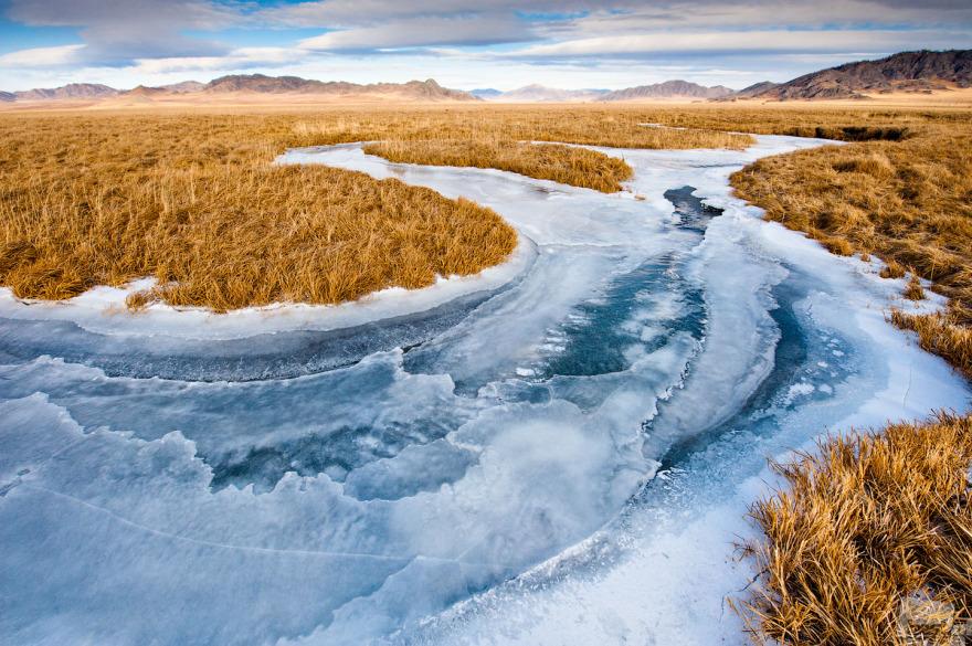 «Холодные вены Алтая». Замерзшая река Кан. Антон Агарков, город Усть-Кан, Алтай