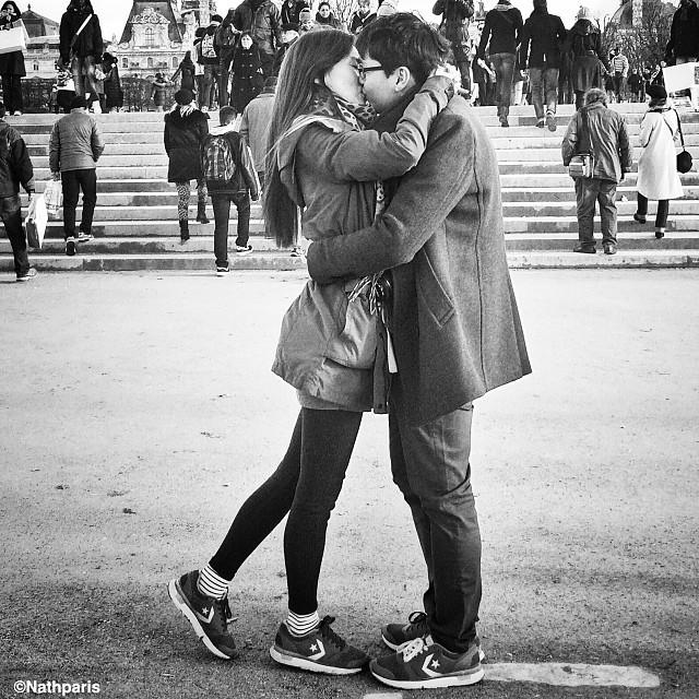 Влюбленные, Париж, инстаграм фото