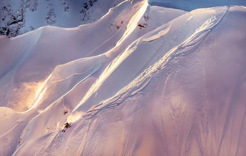 Лыжник.  Фото Кирилла Умрихина. Аня Ханкевич, Роза Хутор, Красная Поляна