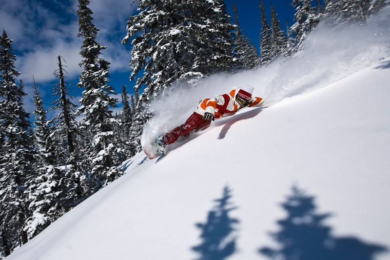Сноубордист. Фото Кирилла Умрихина. На фото Сергей Зюзюк, Шерегеш