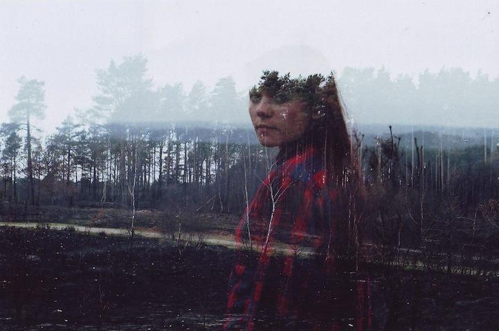 Портрет и пейзажи в мультиэкспозиции Оливер Моррис (Oliver Morris)