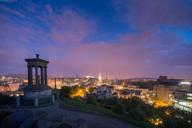 ночные пейзажи Эдинбурга