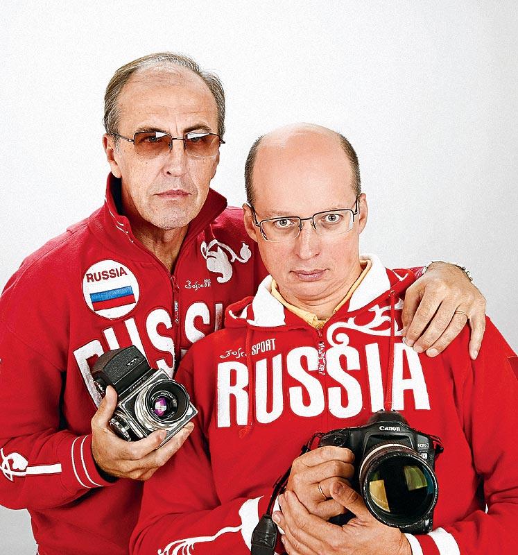 Фоторепортеры Андрей Голованов и Сергей Киврин