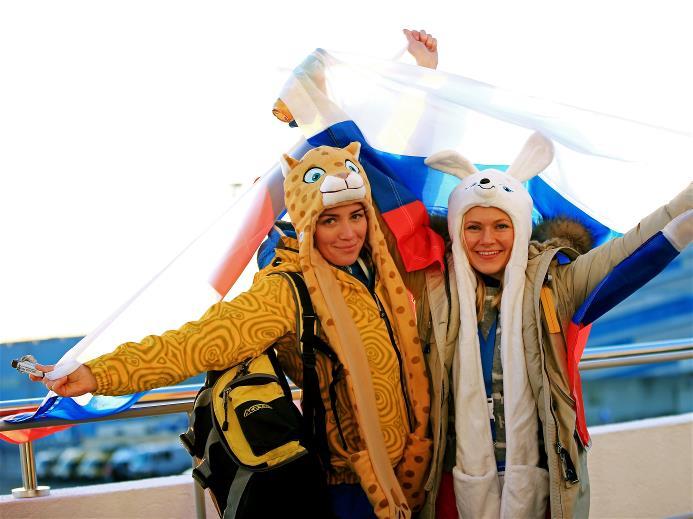 Российские болельщики в Сочи. Фото http://www.sochi2014.com/