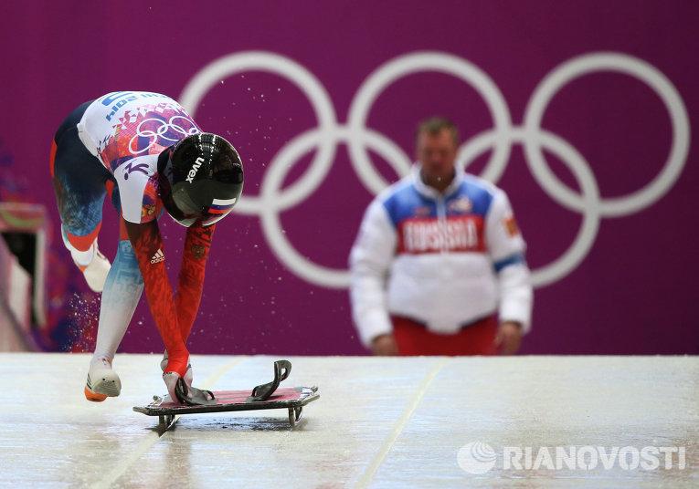 Елена Никитина впервые в истории принесла России бронзу в женском скелетоне