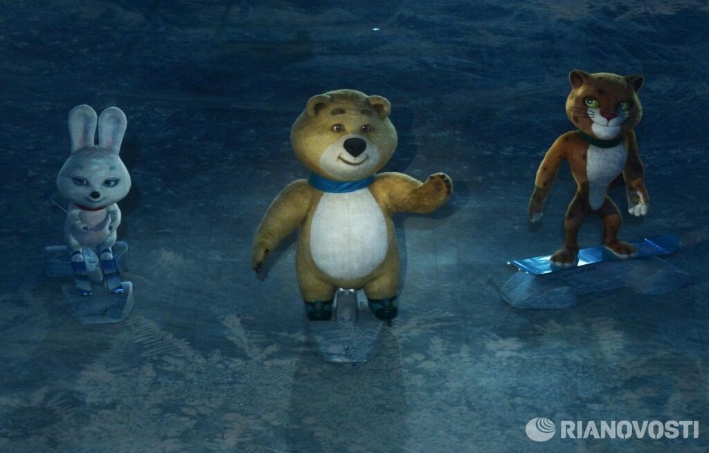 Символы Сочи 2014: Зайка, Мишка и Леопард