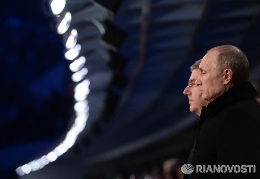 Президент Владимир Путин на церемонии открытия Олимпийских игр в Сочи