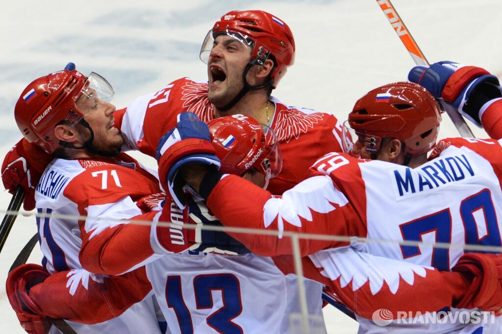 Россия - США: хоккей, гол