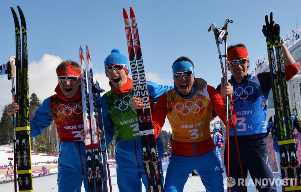 Российские лыжники завоевали серебро
