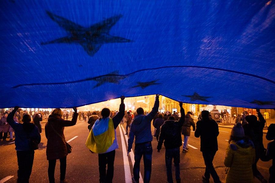 События в Киеве. Протестующие. Фото: Михаил Палинчак
