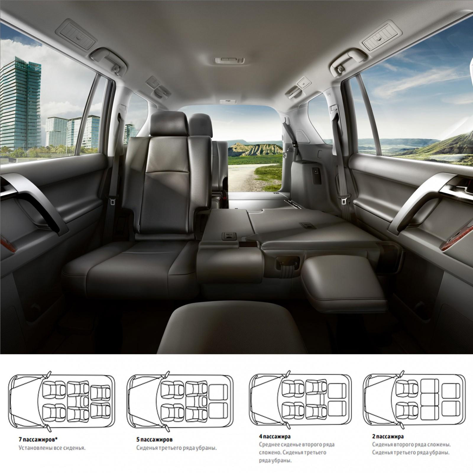 Toyota Land Cruiser Prado - вместимость салона