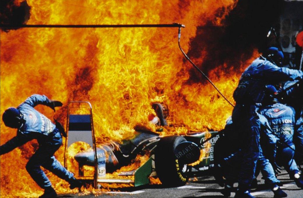 Йос Ферстаппен в огне. 1994 год. Артур Тилль