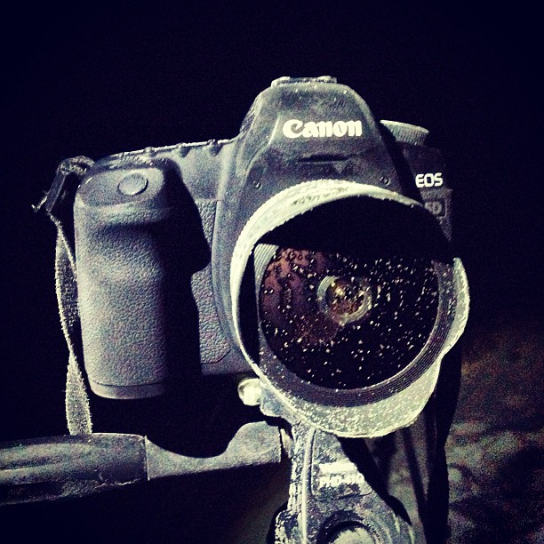 Замерзший фотоаппарат