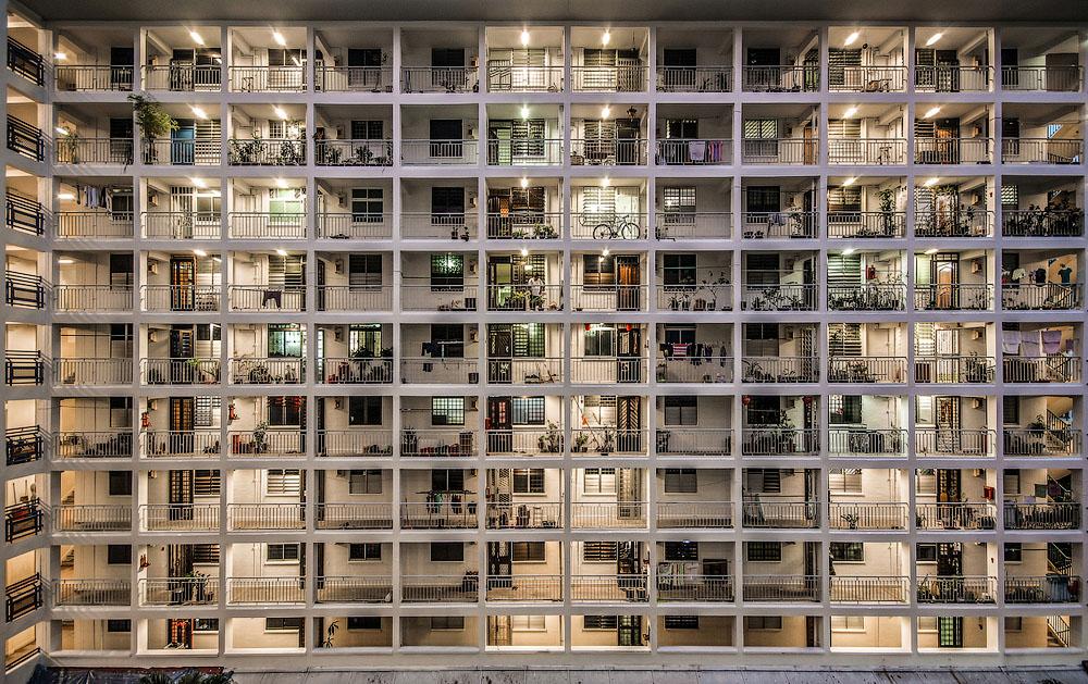 Здание в стиле метаболизма. Место съёмки: Сингапур. Номинация: National Awards, Сингапур, 3 место. (Daniel Chia/2014 Sony World Photography Awards)