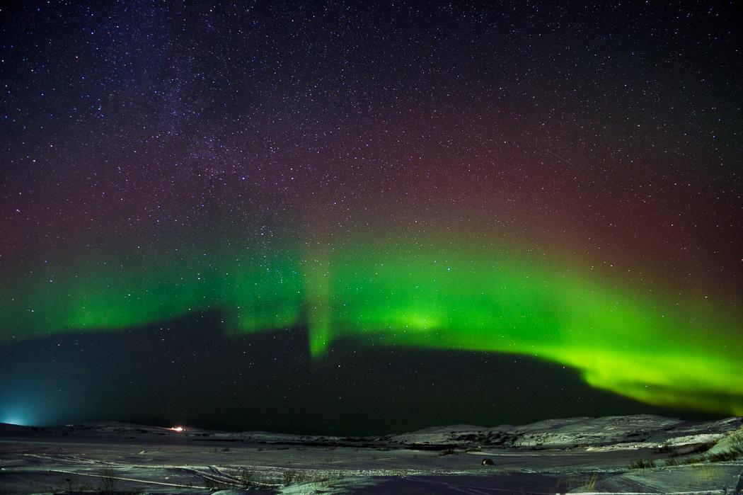 Северное сияние на Кольском полуострове. Фото Ивана Дементиевского