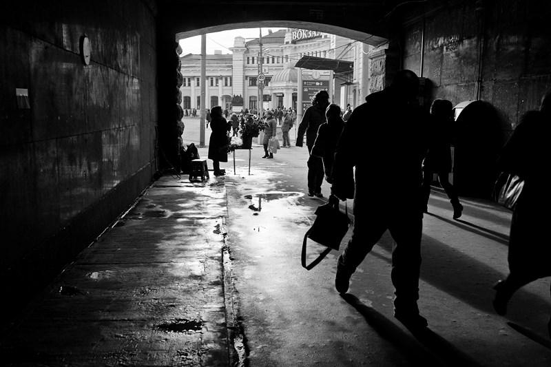 Тоннель возле Белорусского вокзала. Тестовые фото Sony 7