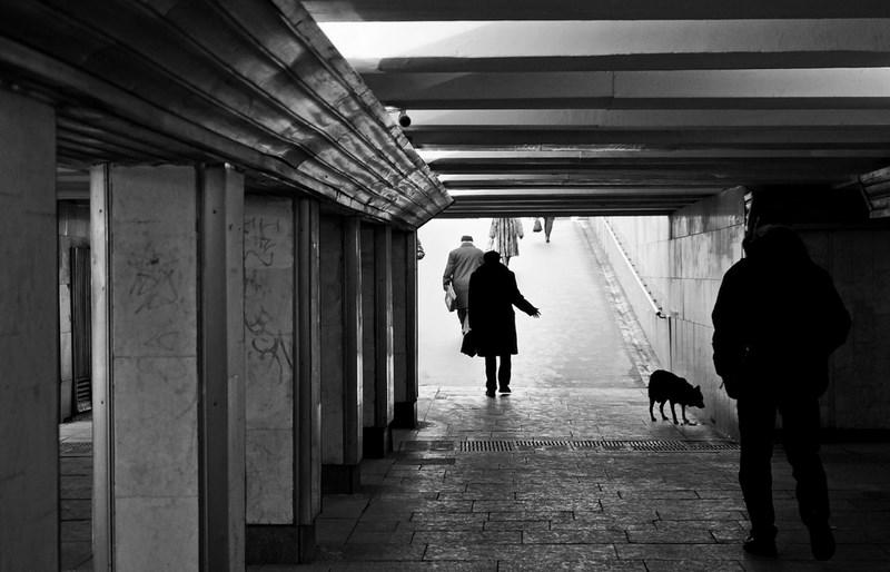 Подземный переход на Невском. Петербург.  Тестовые фото Sony 7