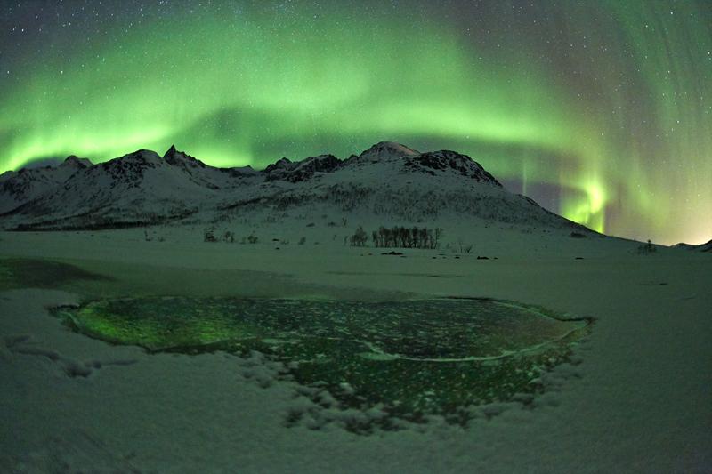 Северное сияние в Норвегии. Фото Geir Ytterstad