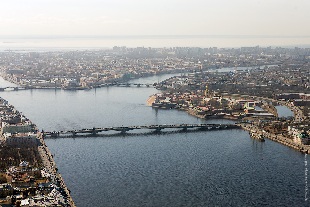 Санкт-Петербург, фото с высоты. Автор - Сергей Клочев