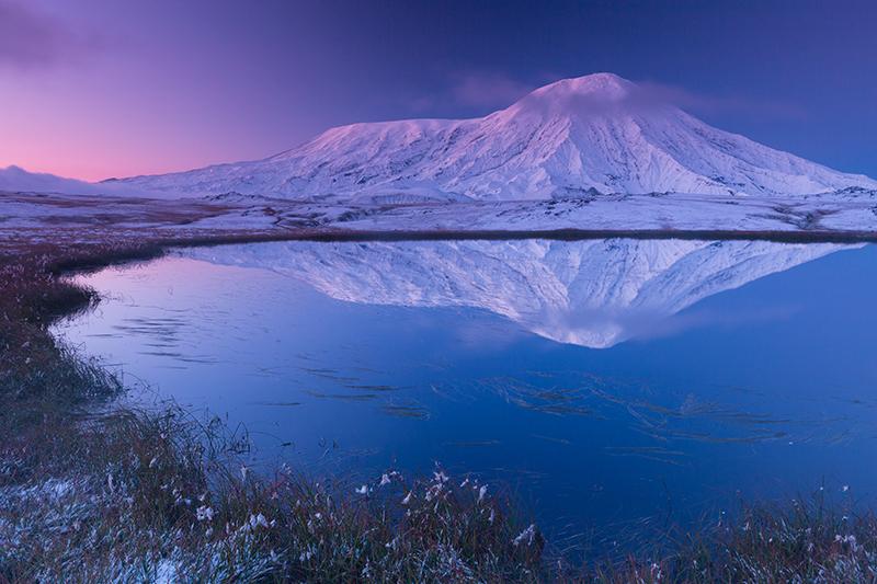 Рассвет над вулканом Толбачик