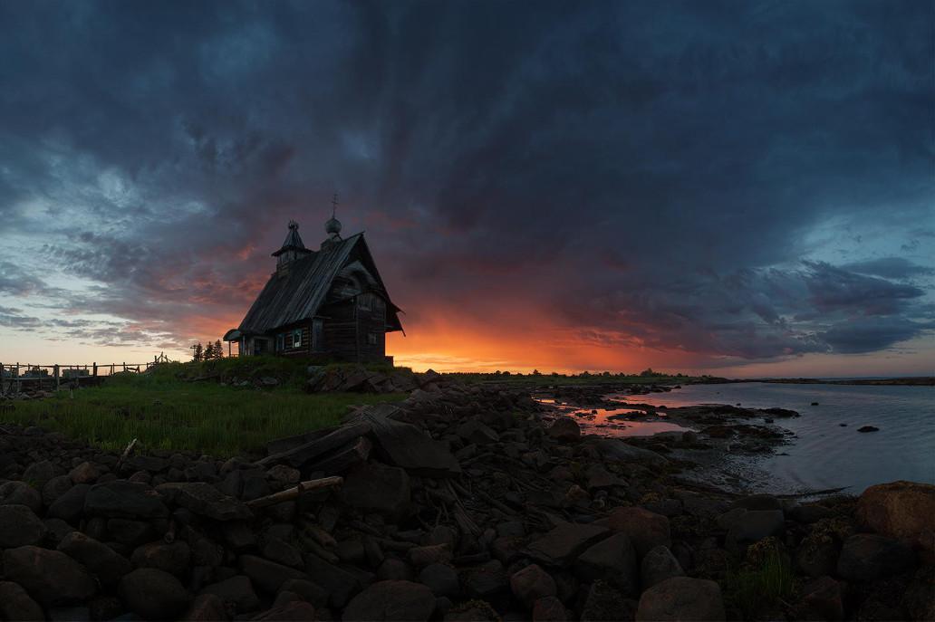 «Старая церковь на берегу Белого моря», Рабочеостровск. Автор: Сергей Ершов