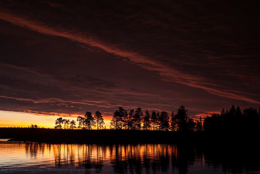 «Карельская ночь». Река Воньга. Автор – Иван Дементиевский