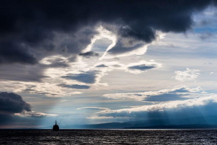 Море и небо. Полуостров Рыбачий. Фото Дмитрия Чистопрудова