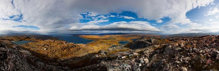 Кольский полуостров, панорама.  Фото Дмитрия Чистопрудова
