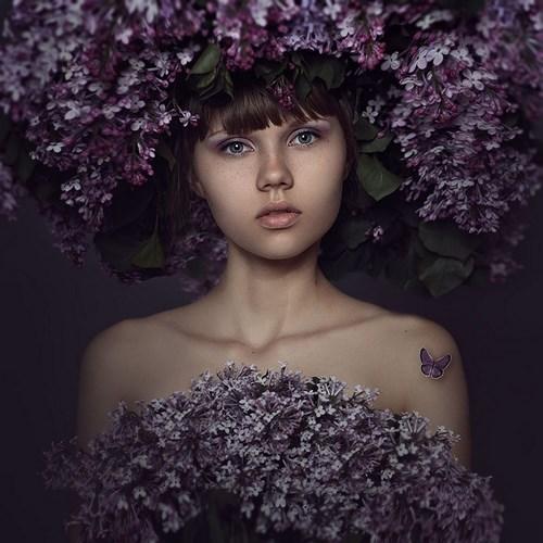 Портретная фотография Леры Лукащук. Весна
