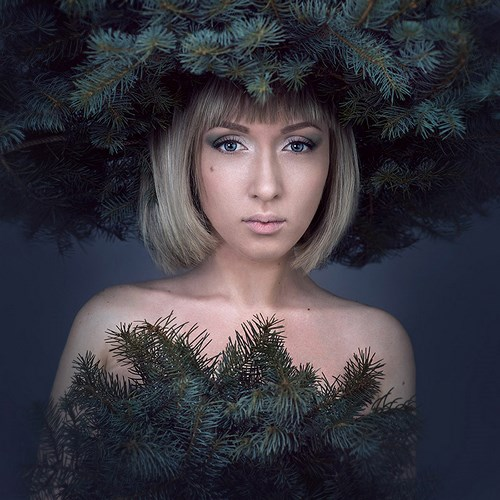 Портретная фотография Леры Лукащук. Зима
