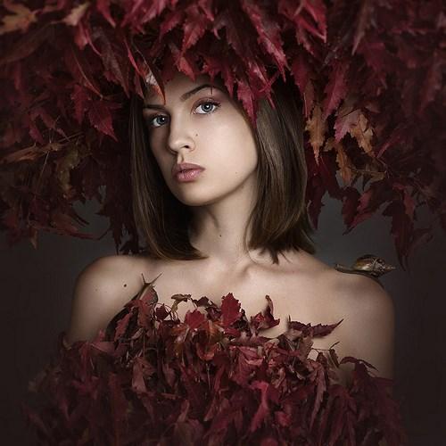 Портретная фотография Леры Лукащук. Осень