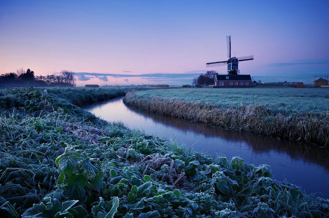 Пейзажи с мельницами. Фото: Martijn van der Nat