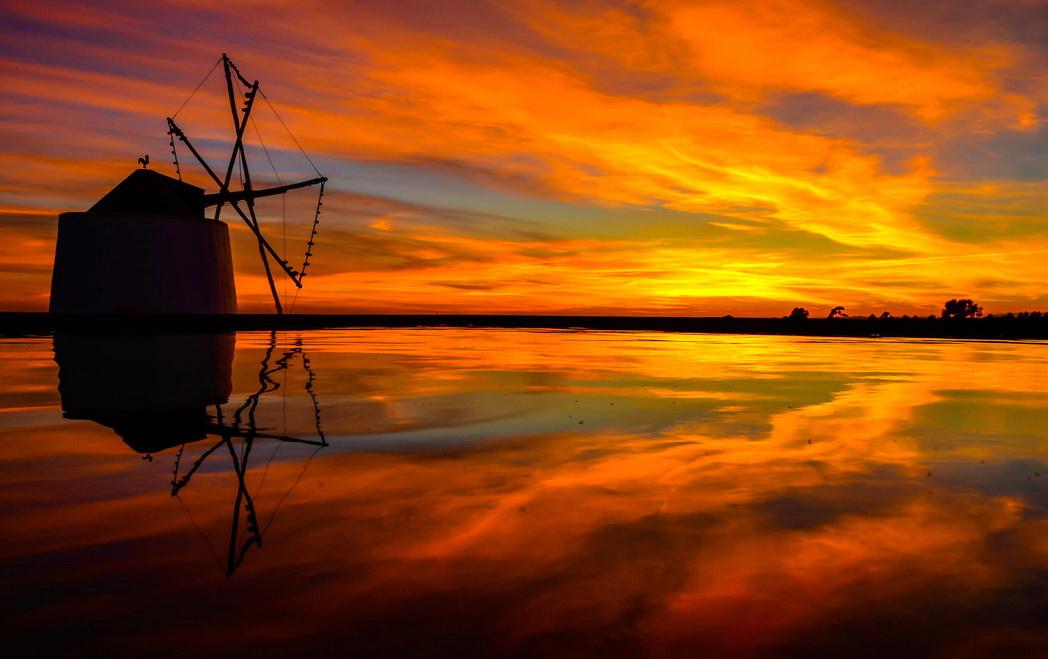 Пейзажи с мельницами. Фото: Hilario David