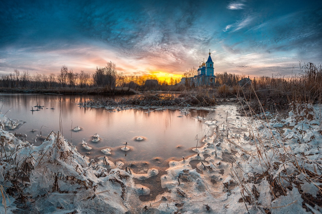 22 aleksandr ermolin hram v chest pokrova presvyatoy bogorodicy. 30 великолепных зимних пейзажей