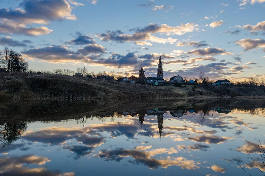 Картинки села или города весной