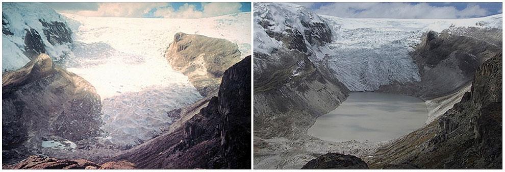 Qori Kalis Glacier, Peru. July, 1978 — July, 2011.