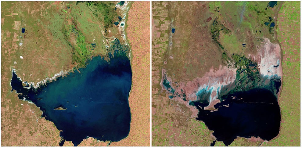Mar Chiquita Lake, Argentina. July, 1998. — September, 2011.
