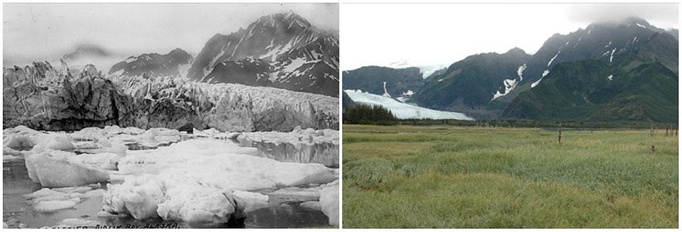 Pedersen Glacier, Alaska. Summer, 1917 — summer, 2005