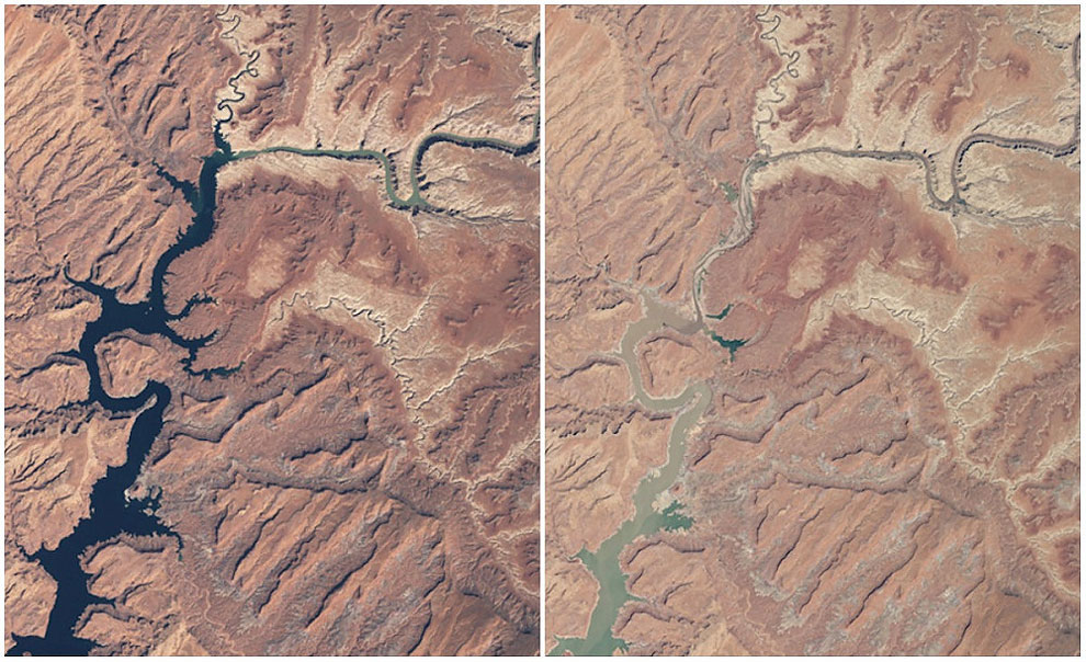 Powell Lake, Arizona and Utah. March, 1999 — May, 2014