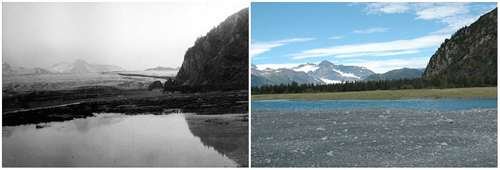 Bear Glacier, Alaska. July, 1909 — August, 2005