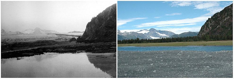 Bear Glacier, Alaska. July, 1909 — August, 2005