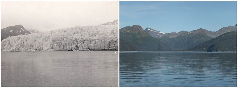 McCarty Glacier, Alaska. July, 1909 — August, 2004