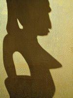 3. «Тень и стена» Тень африканской скульптурки жила на стене как-то отдельно от породившего ее предмета. Мне приятно было скользить взглядом по угловатым зигзагам ее контура. Тень и сама по себе красивая,  в сочетании с фактурой стены обрела волшебную телесность кожи африканских красавиц. Снимая, я использовал боковой, скользящий по поверхности свет, что сделало тень более объемной, гипертрофировав женские выпуклости   и подчеркнув шероховатую фактуру стены.  Камера Nikon Сoolpix 5000. Чувствительность 100 ASA.  Выдержка 1/15 сек. Диафрагма 7,2.