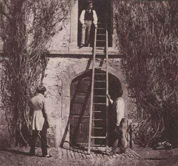Лестница. Калотип Талбота. 1843 г.