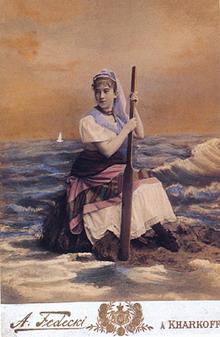 Пример раскрашенной фотографии. Федецкий Альфред Константинович (1857-1902).
