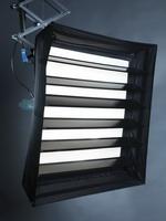 Сoфт-бокс pulsoflex EM *80 x 80 cm (32 x 32) с установленными ламелями для создания более направленного светового потока